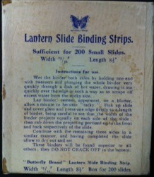 Lantern Slide Binding Strip box