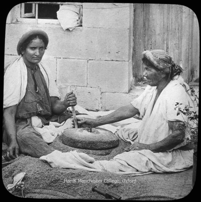 "HMC: Palestine: ""HOLY LAND.""   ""28. Women Grinding."""